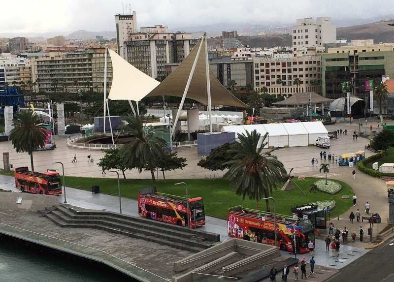Busbahnhof und Stadtrundfahrten am Las Palmas Cruise Terminal