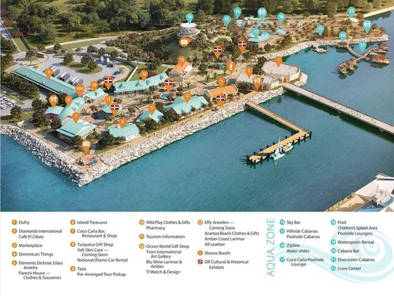 Amber Cove Cruise Center auf einen Blick