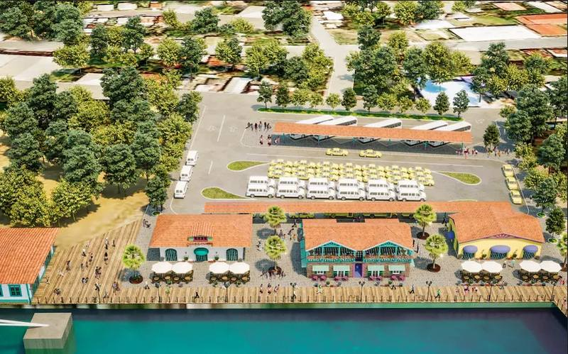 Animation des neuen Cruise Terminals von Royal Caribbean