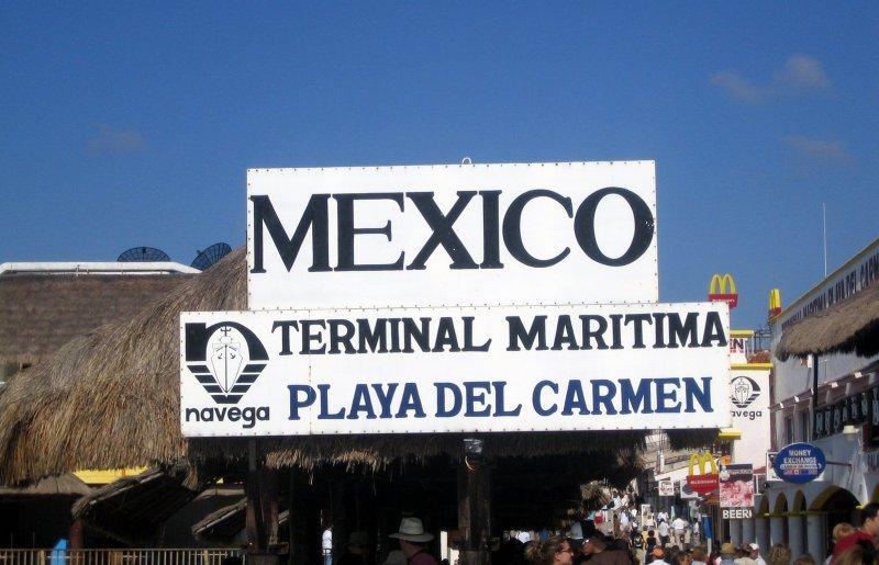 Ankunft in Playa del Carmen