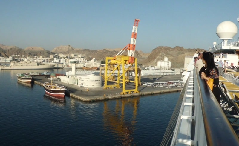 Anlegen in Muscat