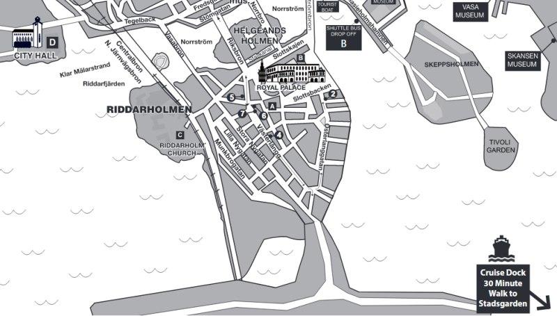 Karte der Gamla Stan