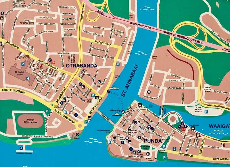 Karten für den Tag in Willemstad auf eigene Faust