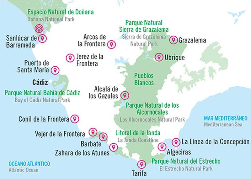 Landausflüge in Cadiz zu Zielen in Andalusien