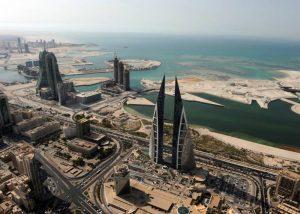 Blick auf das moderne Manama