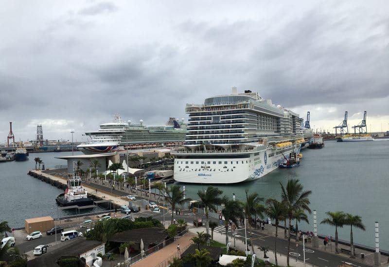 Kreuzfahrtschiffe im Kreuzfahrthafen von Las Palmas