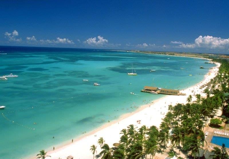 Blick auf den Palm Beach