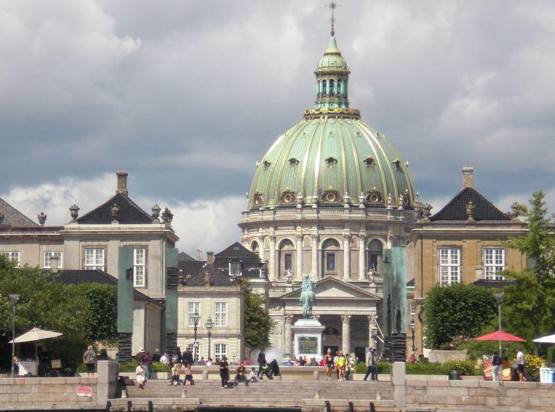 Sichtachse vom Hafen zur Frederiks Kirke