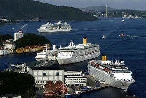 Blick auf die Schiffe