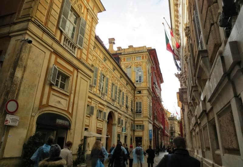 Blick in die Via Garibaldi