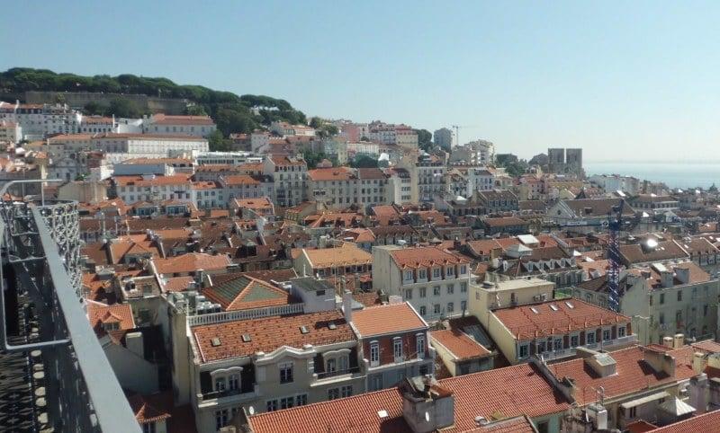 Landausflüge in Lissabon zum elevador de San Justa