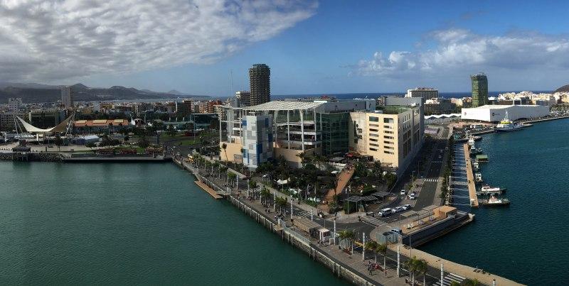 Blick vom Kreuzfahrtschiff in Las Palmas