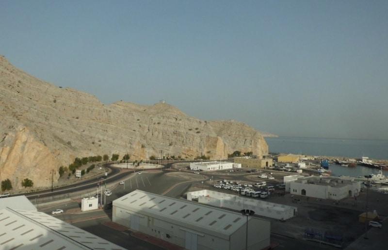 Blick auf den Hafen von Khasab