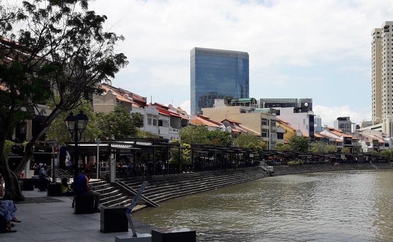 Boat Quay am Singapore River