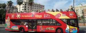 Bus an der Plaza Marina