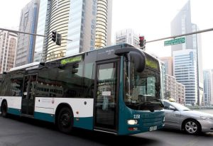 Bus in der Stadt