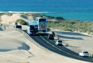 Busfahren auf der Insel