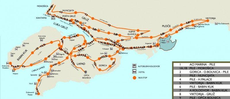 Öffentliche Busse in Dubrovnik