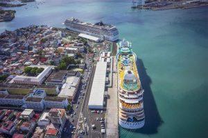 Das Cruiseterminal von oben