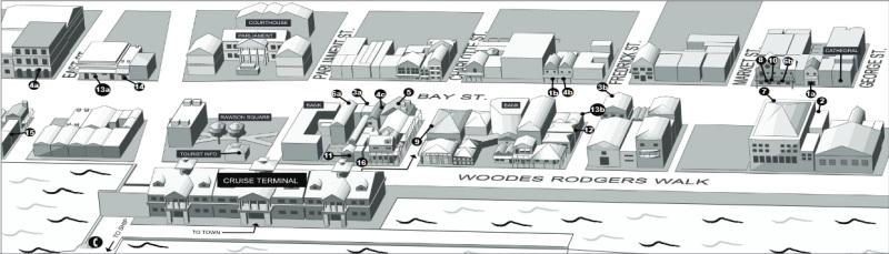 Der Bereich um das Kreuzfahrtterminal