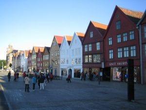 Der Häuserfront des Hanseviertels