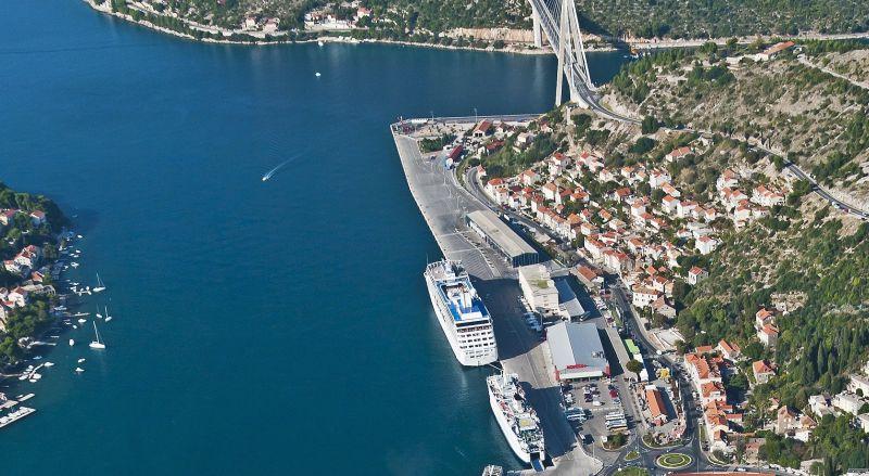 Luftbild des Hafens