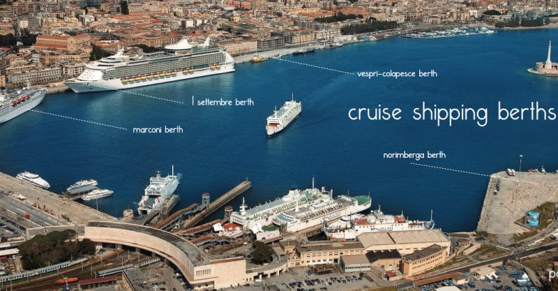 Die Liegeplätze in Messina Cruise Terminal