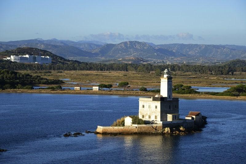 Der Faro di Isola della Bocca in Olbia