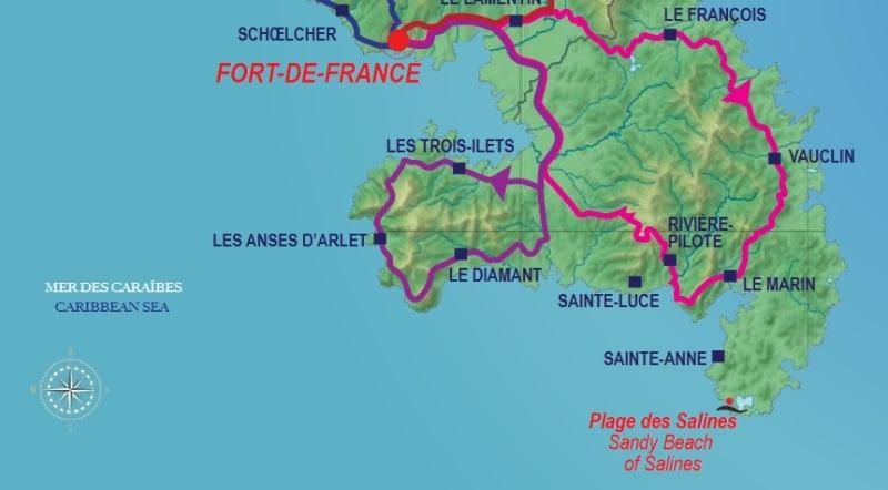 Der Süden von Martinique