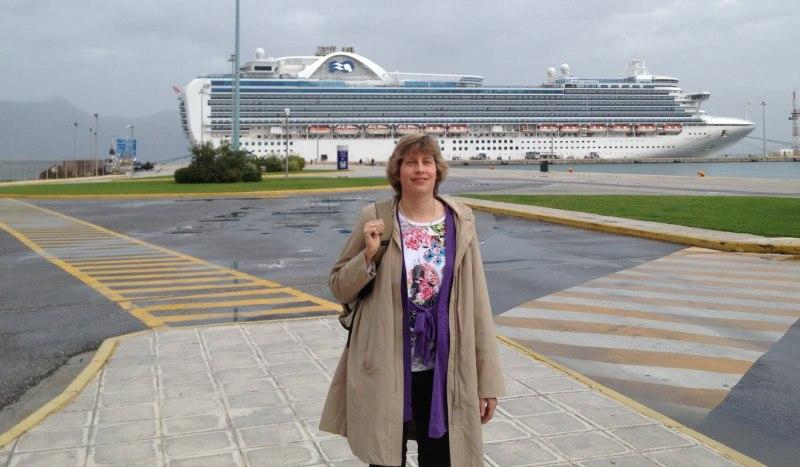 Im Kreuzfahrthafen von Korfu