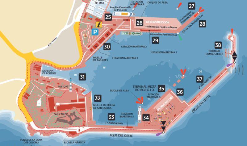 Detailansicht des Hafens