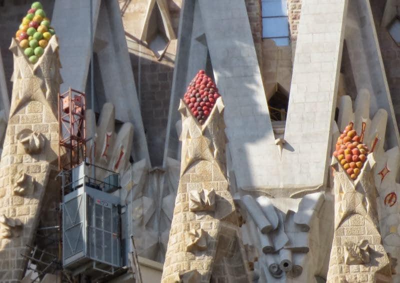 Details an dem fertigen Bereich der Kathedrale