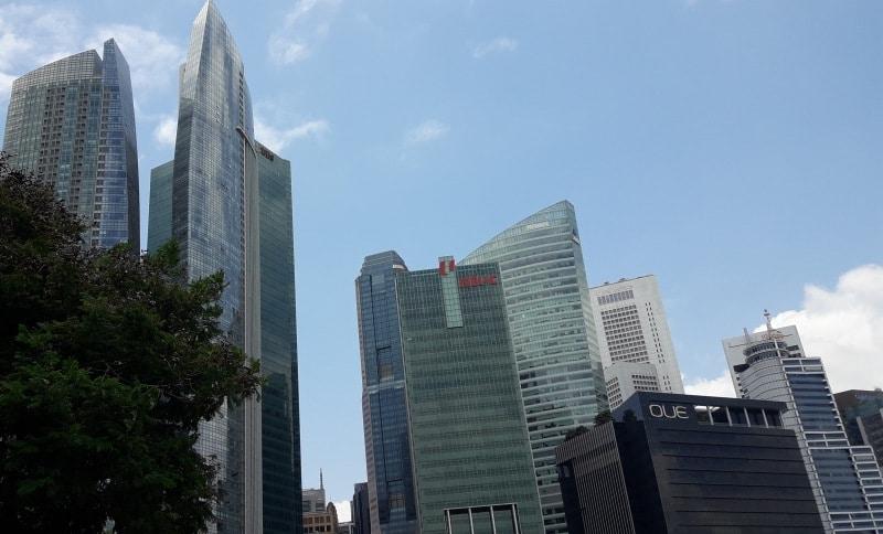 Die Skyline der Bürotürme