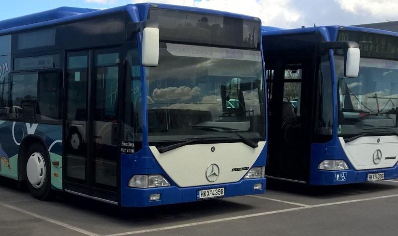 Landausflüge in Heraklion mit den blauweissen Stadtbussen