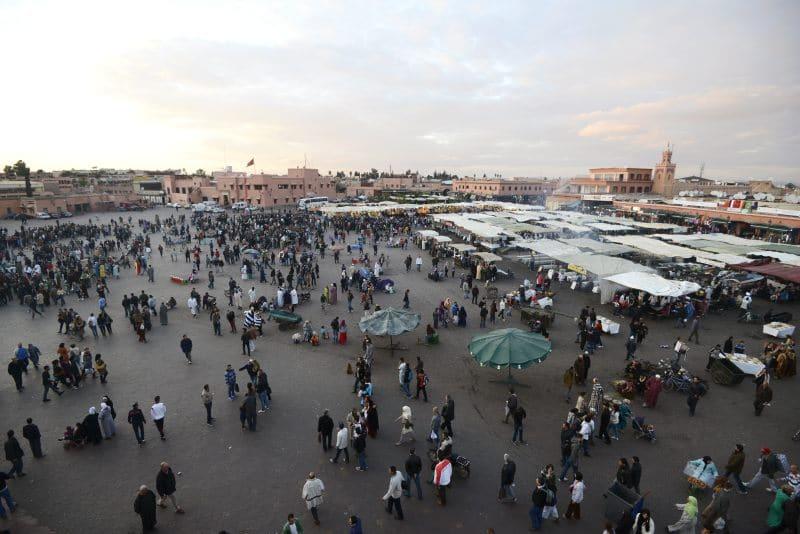 Der Platz Djemaa el Fna in Marrakesch