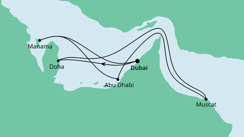 Doha wird im Rahmen von Dubai Kreuzfahrten angelaufen