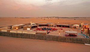 Ein Camp in der Wüste