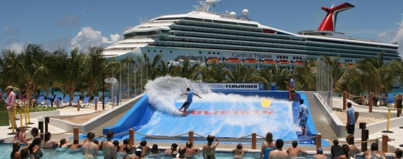 Flowrider im Grand Turk Center