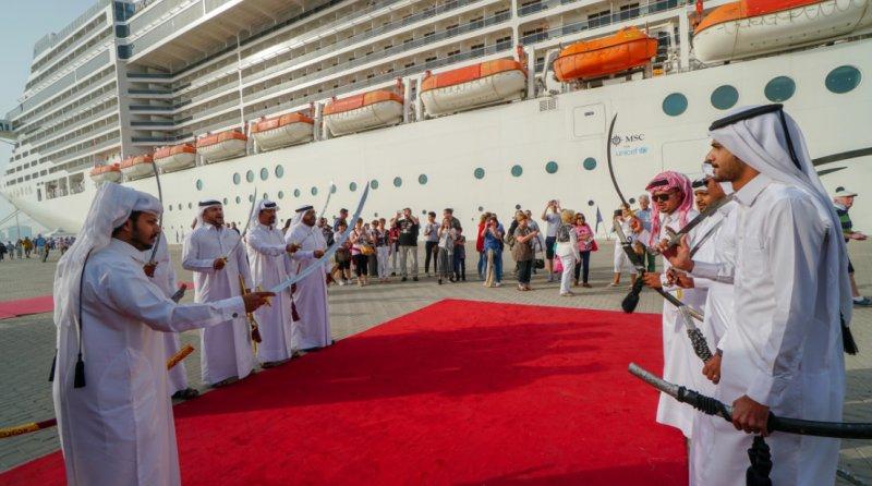Freundliche Begrüßung in Doha