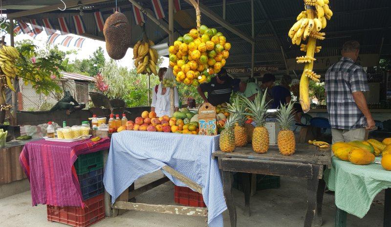 Fruchtverkauf am Straßenrand