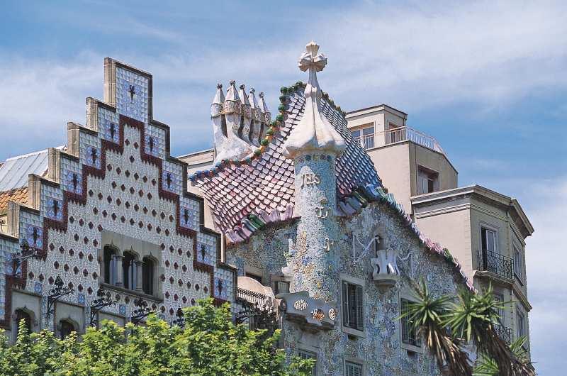 Gebäude von Gaudi prägen die Stadt