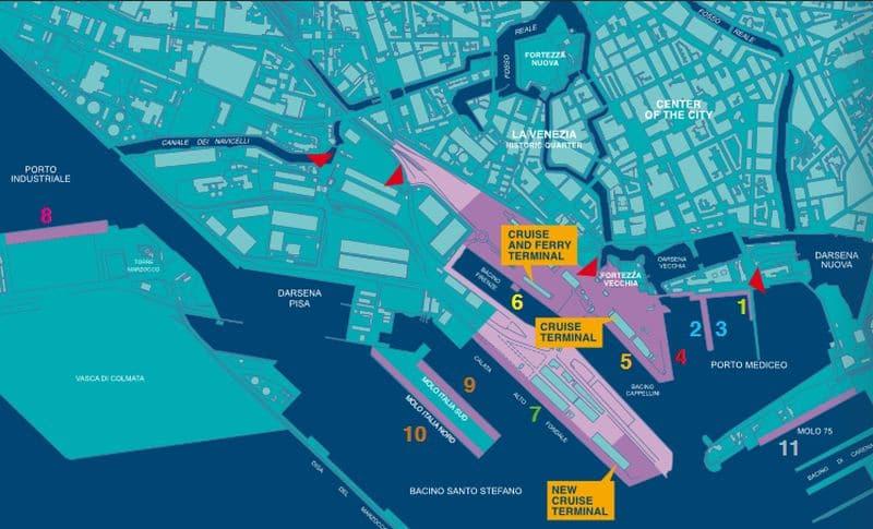 Der Kreuzfahrthafen von Livorno