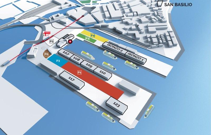 Grafik des Kreuzfahrthafens von Venedig