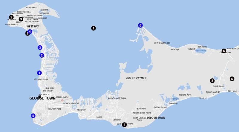 Grand Cayman Karte