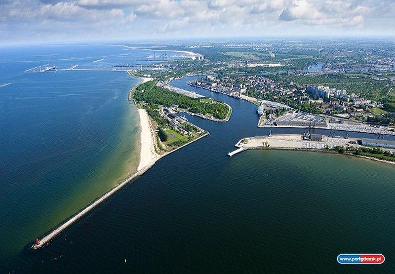 Hafen Danzig mit Westerplatte