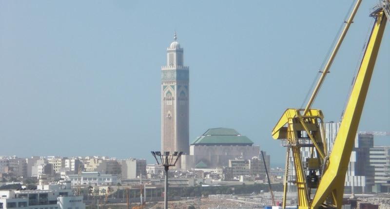 Hassan-II.-Moschee von Deck aus fotografiert