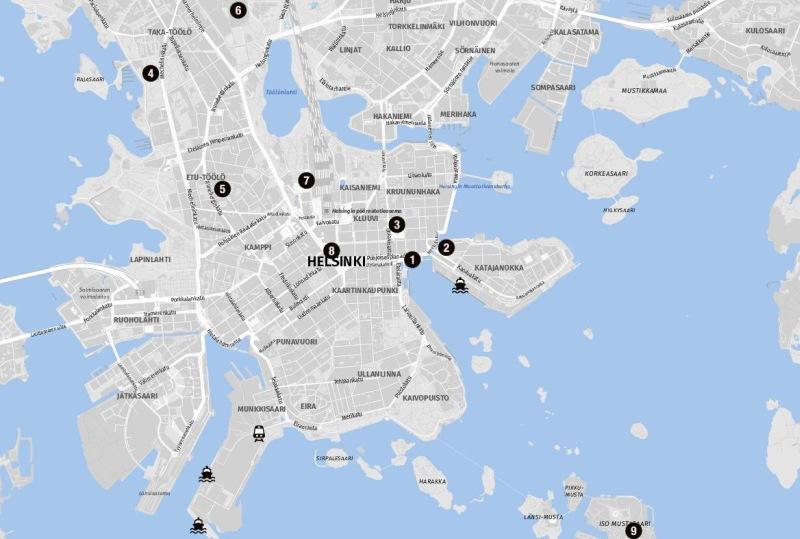 Ziele für Landausflüge in Helsinki