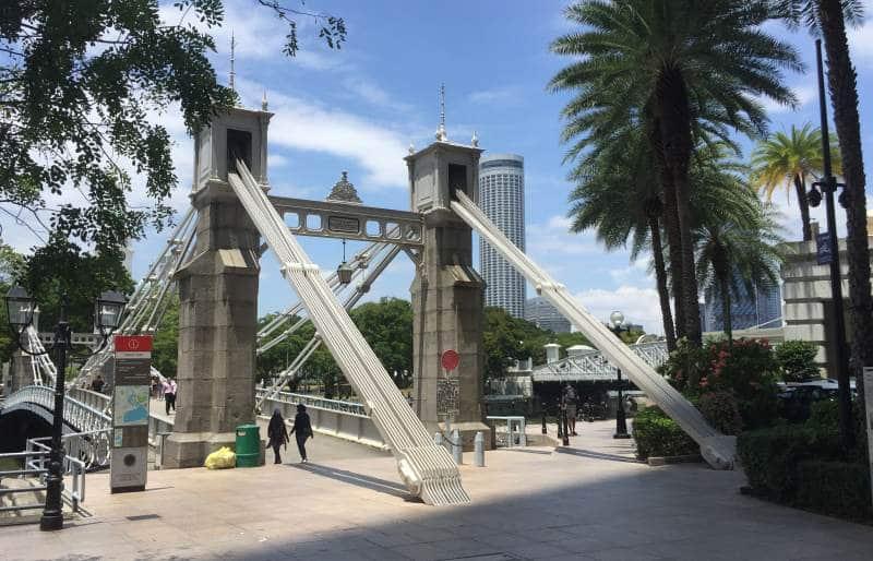 Historische Brück über den Singapore River