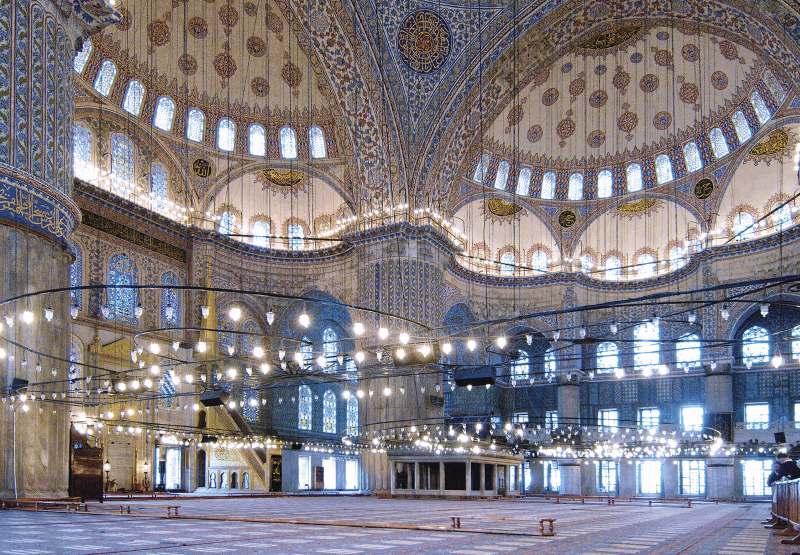 Innenansicht der Blauen Moschee