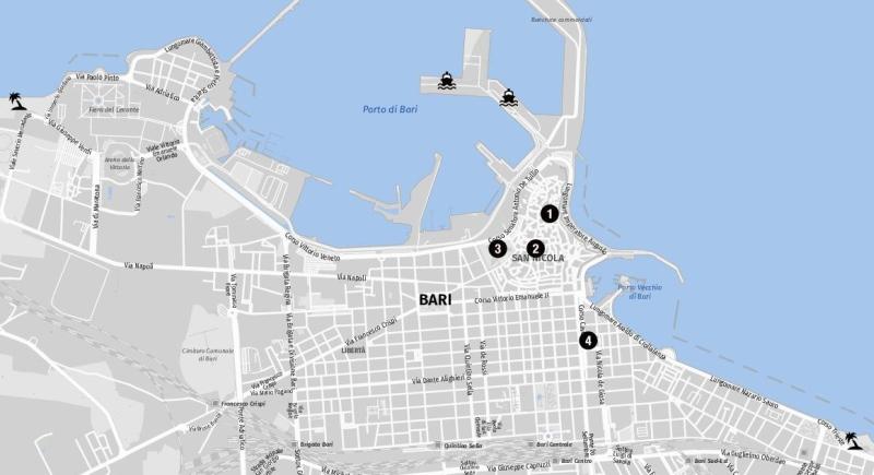 Karte für Landausflüge in Bari